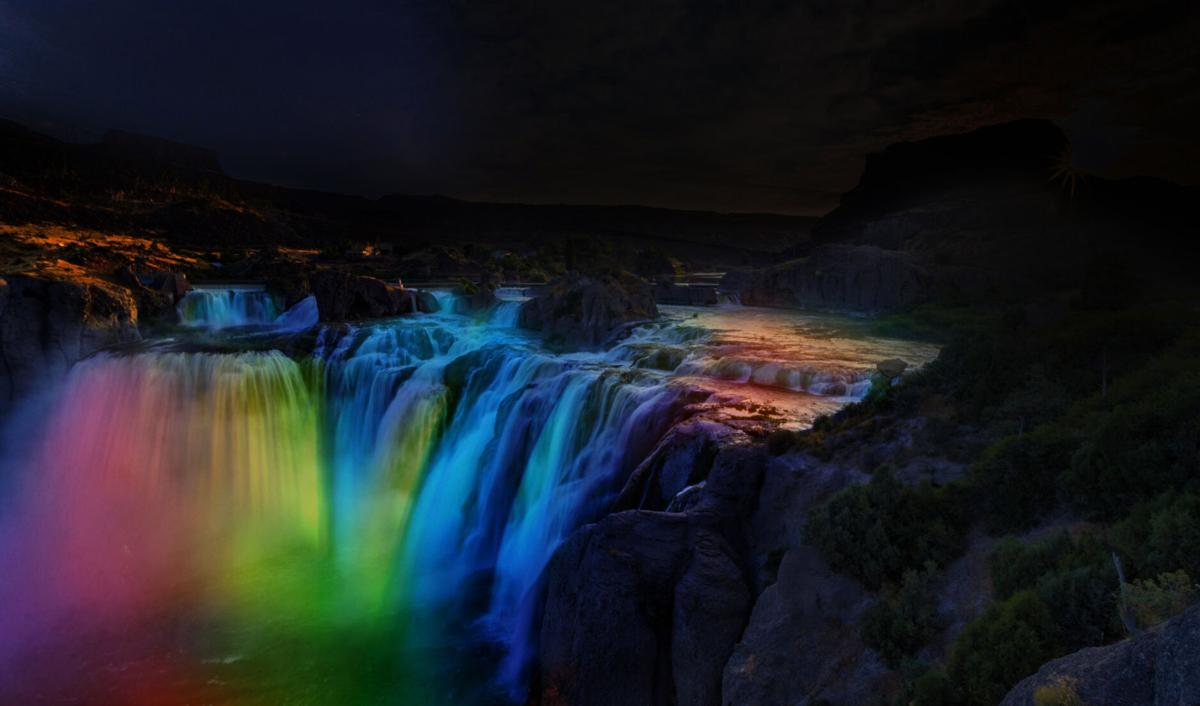 Shoshone Falls After Dark