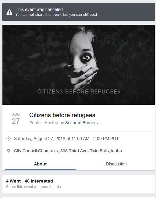 Fake Facebook event pages tried to entice real anti-immigration rallies