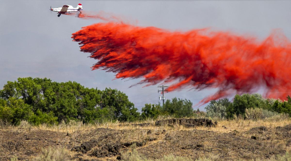 Drops Fire spreads more than 2,000 acres