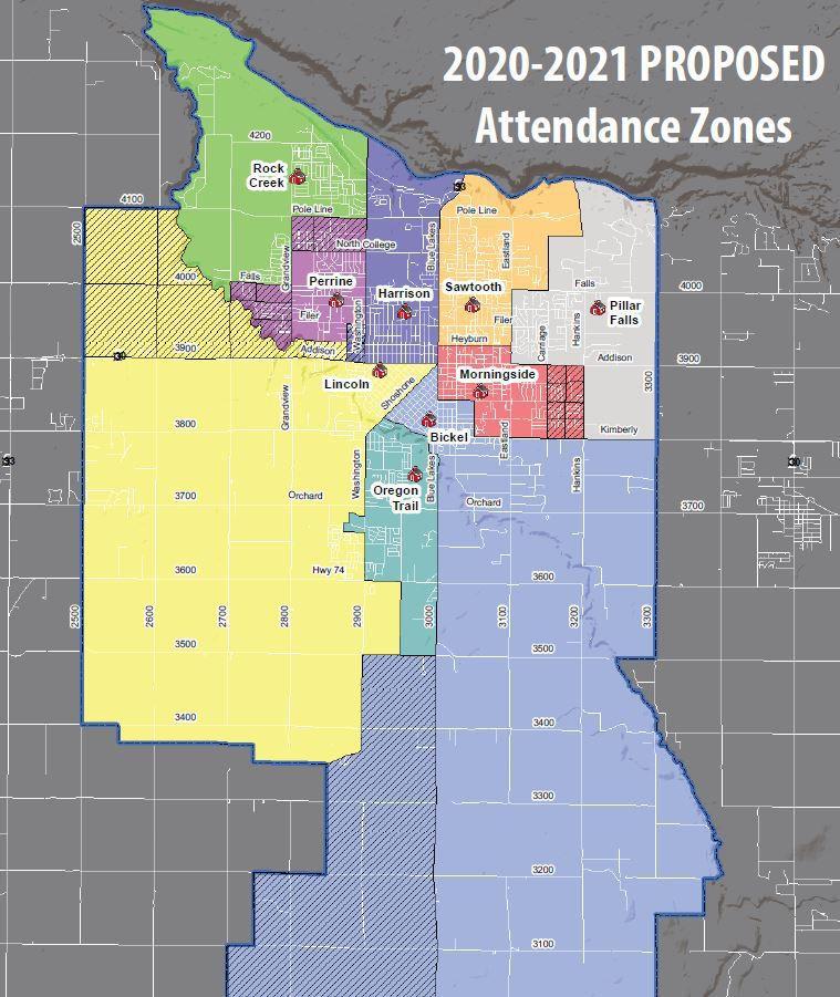 Proposed new zones