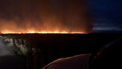 70,000-acre fire burning near Hammett