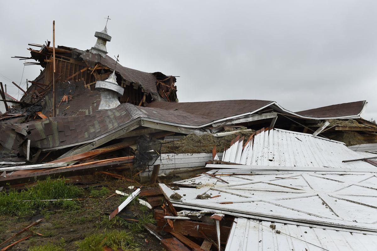 Storm Takes Down Tegan Barn