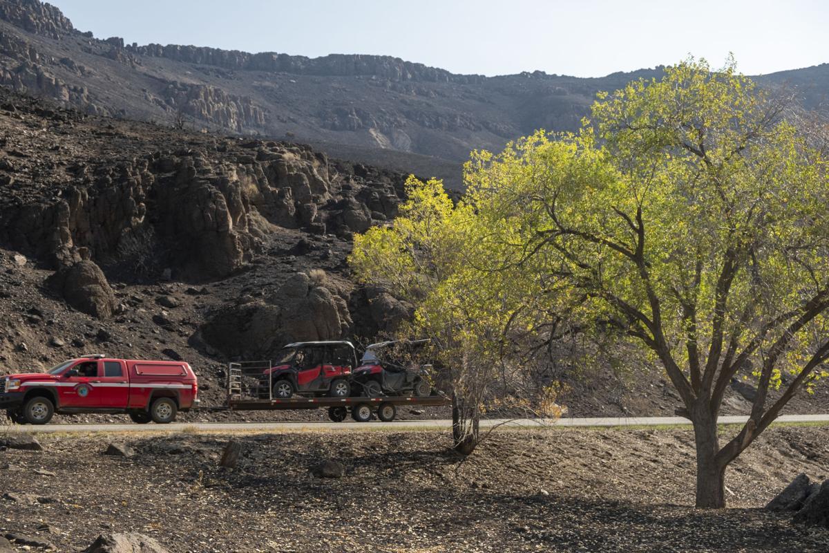 Rock Creek Canyon burn areas