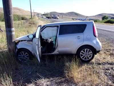 2-vehicle Blaine County crash downs power lines | Southern
