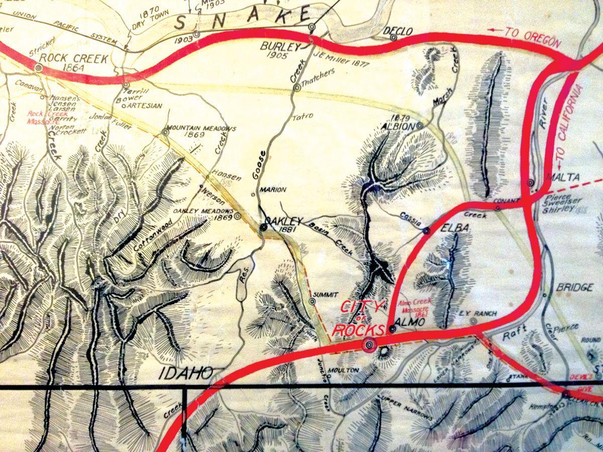 John E. Hayes  map
