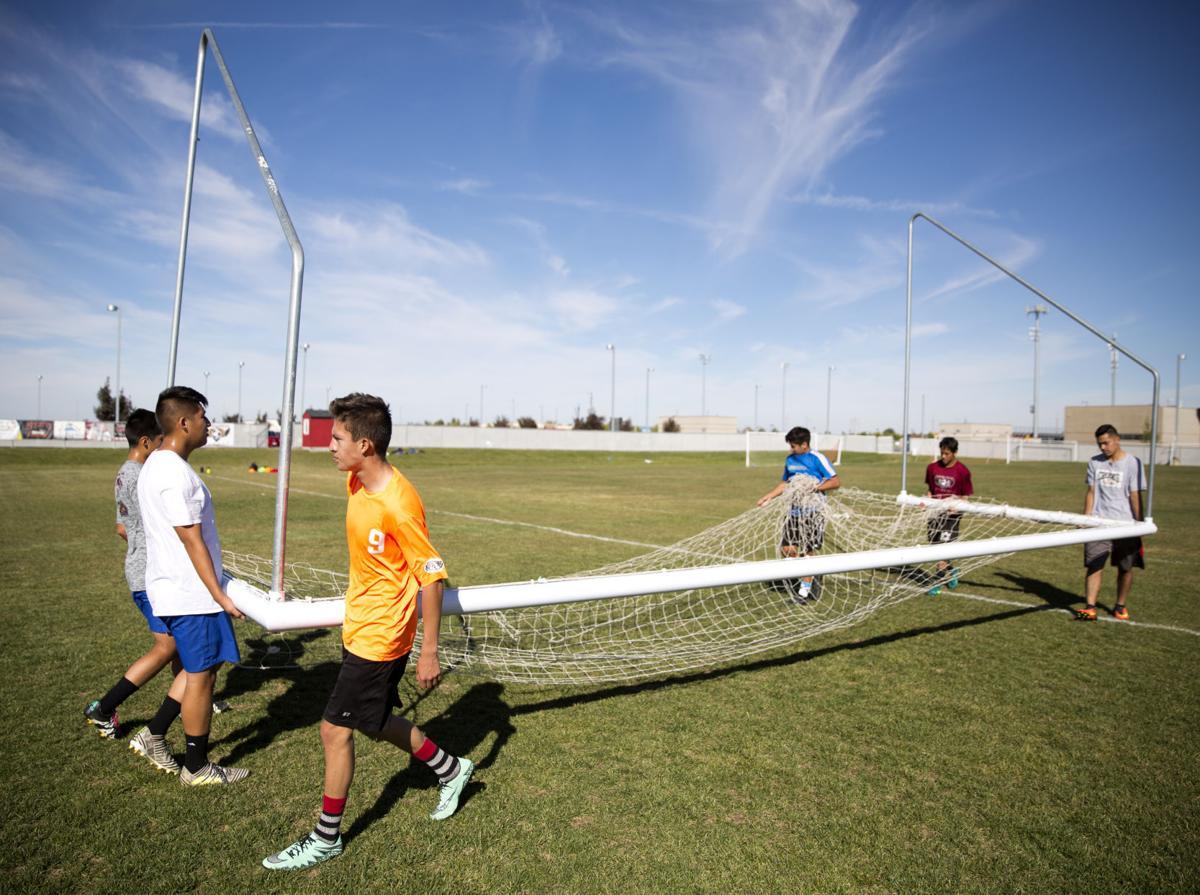 Canyon Ridge soccer practice
