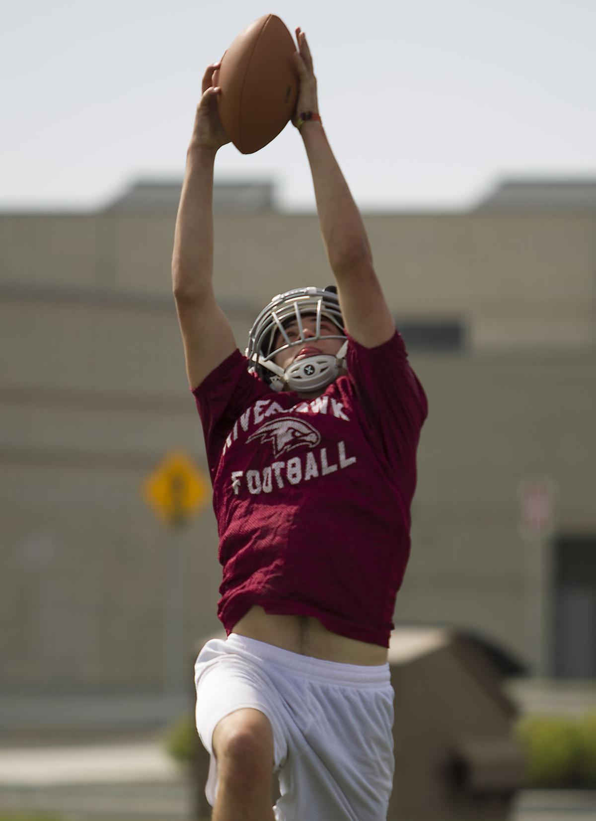 Canyon Ridge football practice