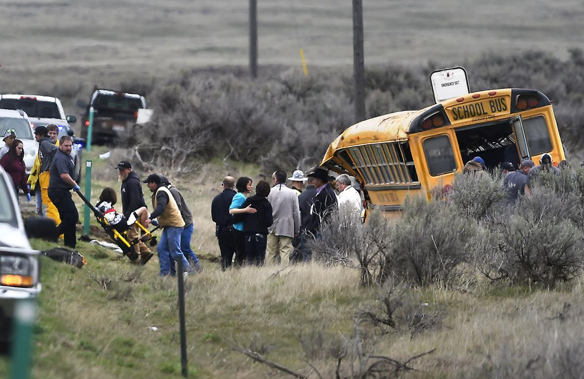 Bus crashes with students aboard