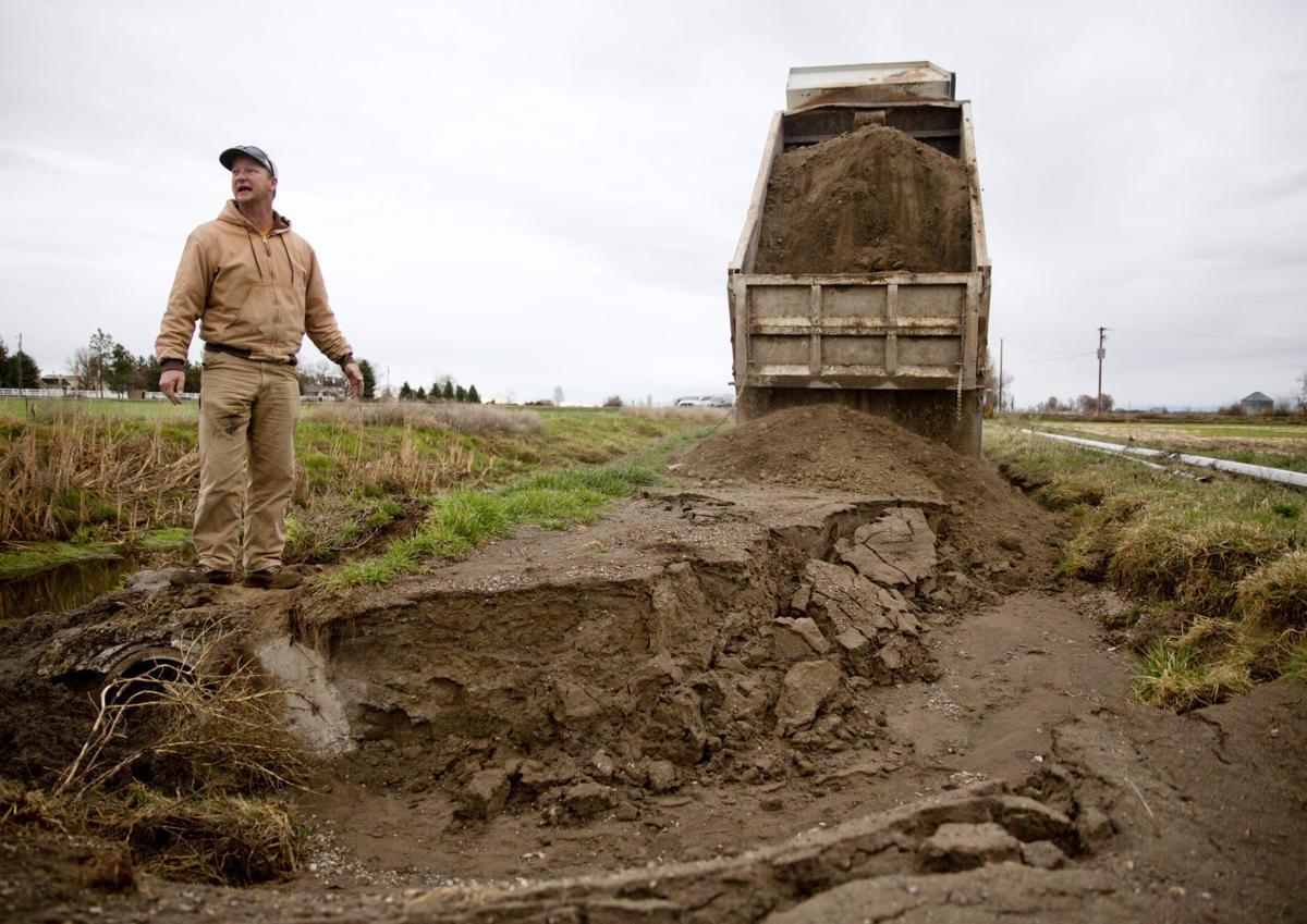 Drain ditch repair