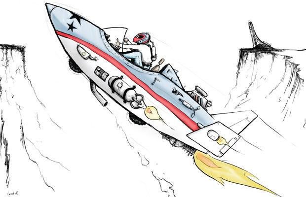 Evel Knievel Illustration