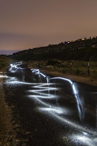 Moonlight run at Auger Falls