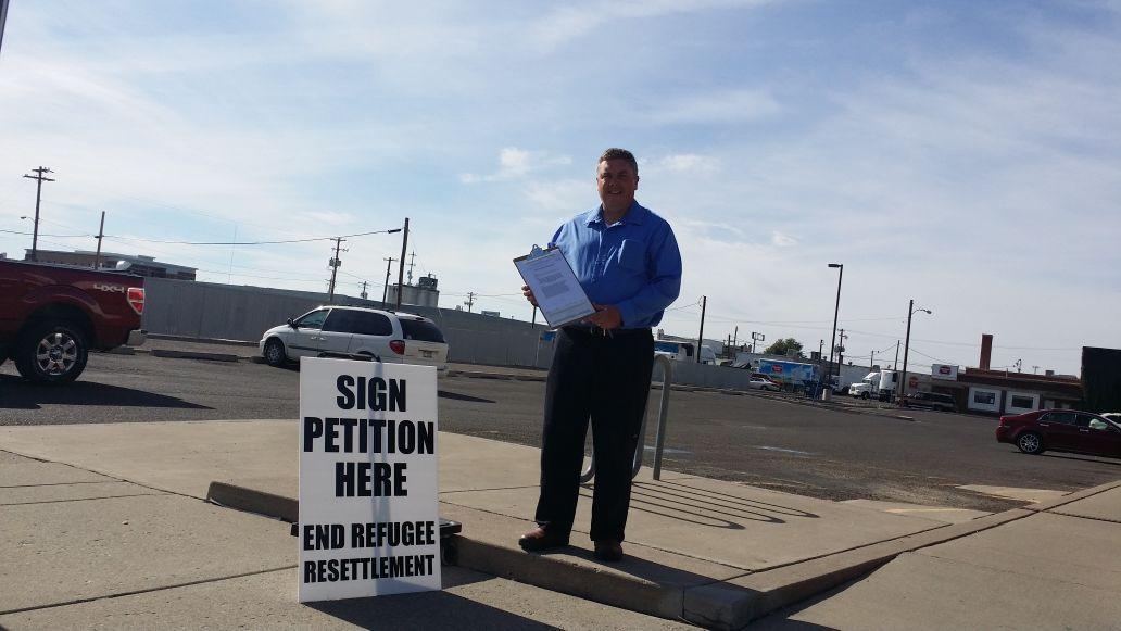 Rick Martin Gathering Signatures