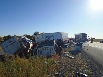 UPDATE: All lanes open; 3 hospitalized after I-84 crashes near Hansen