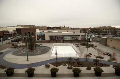 Synthetic ice rink in Downtown Commons