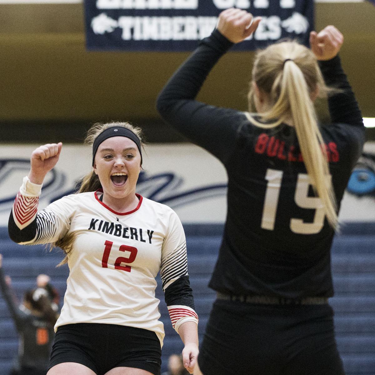2017 3A state volleyball: Kimberly vs. Timberlake
