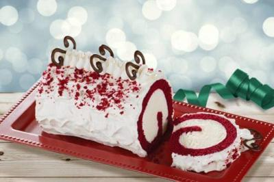 This Red Velvet Roll Cake From Baskin Robbins Is Stuffed With Cream Cheese Flavored