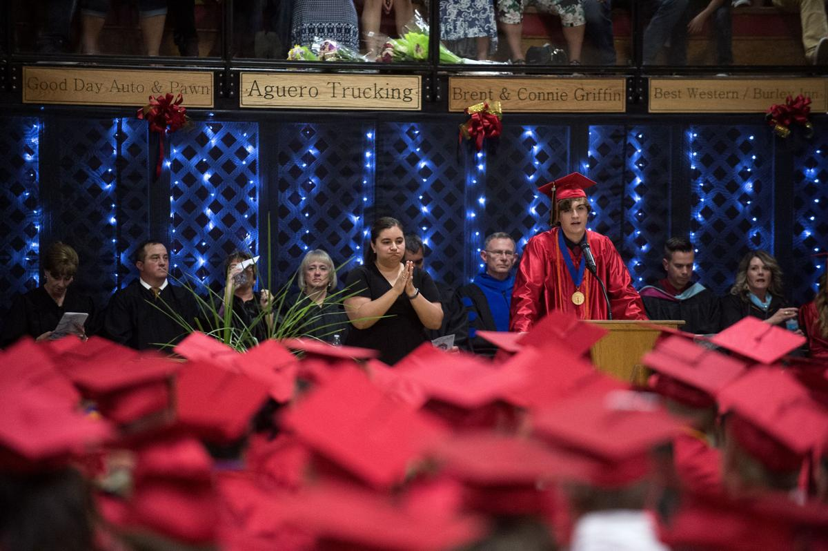 In the red zone, Minico seniors graduate