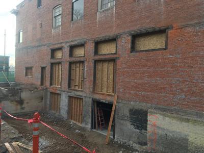 Historic Elks Lodge construction