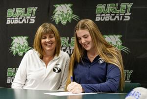 PHOTOS: Burley's Tolman signs with BYU volleyball
