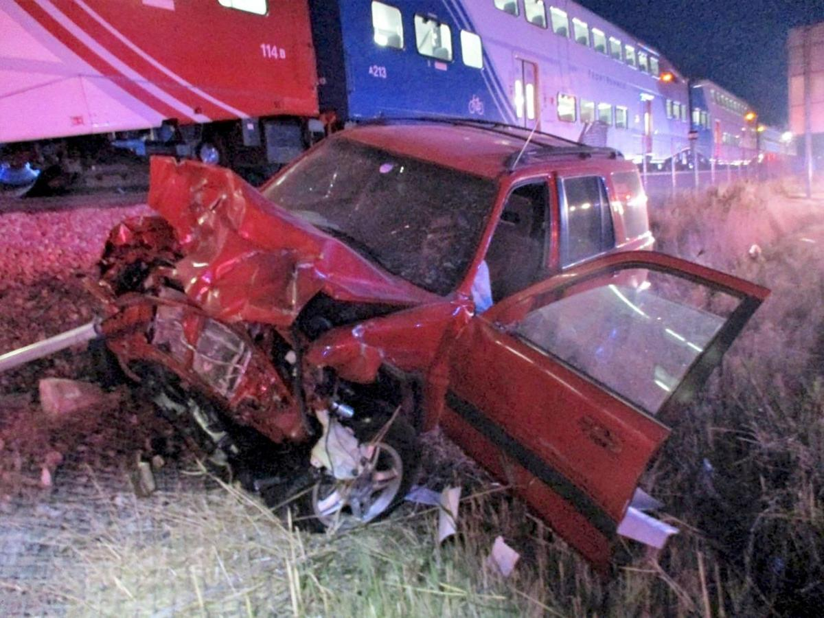 Utah Train Hits Car
