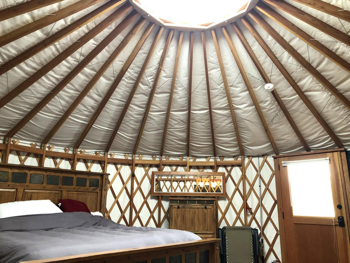Stargazing from the Willow Glamping Yurt