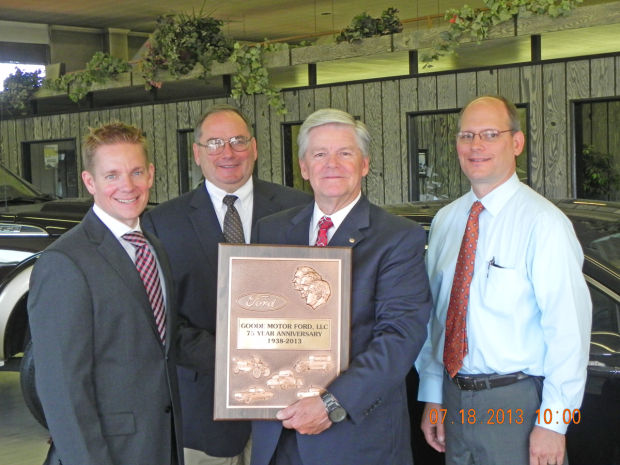 Ford executive honors goode motor in burley for 75 years for Goode motor twin falls idaho