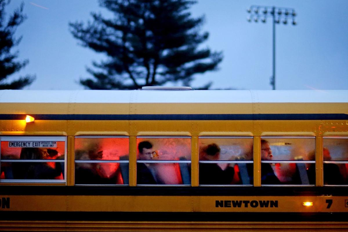 Newtown High School bus
