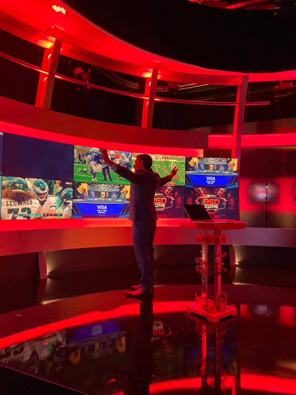 Andrew Siciliano on the set of NFL Red Zone at NFL Network in Culver City, Calif.