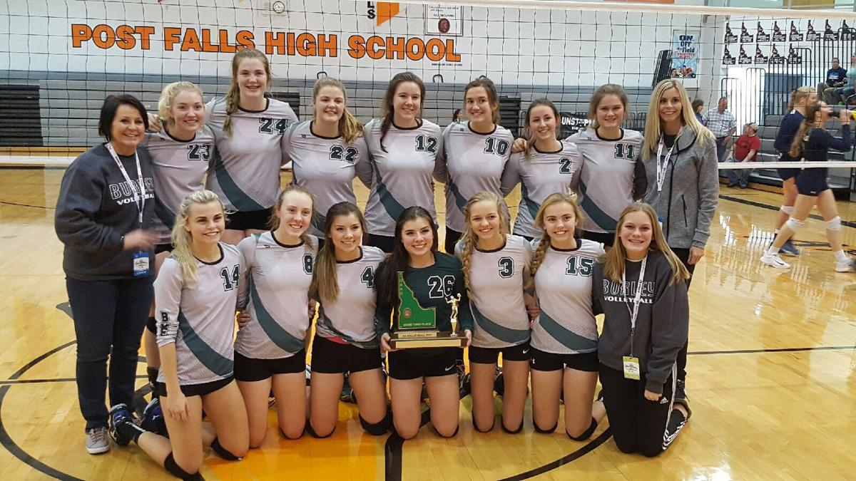 Burley 2017 4A state volleyball third place