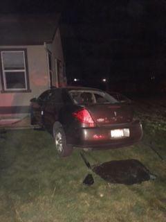 Car crashes into Kimberly house