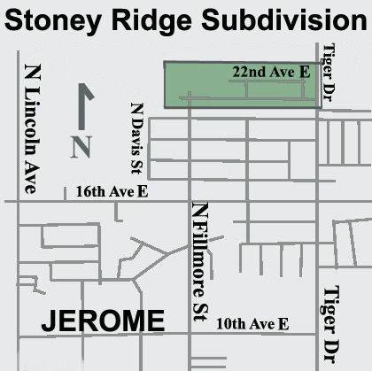 Stoney Ridge Subdivision Location Map