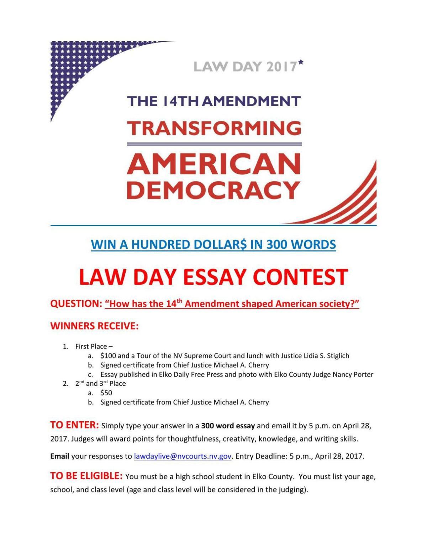 14th Amendment Essay Contest Magicvalleycom