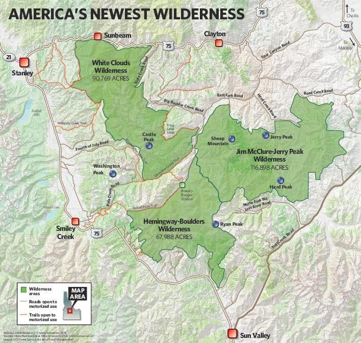 Boulder-White Clouds new wilderness areas