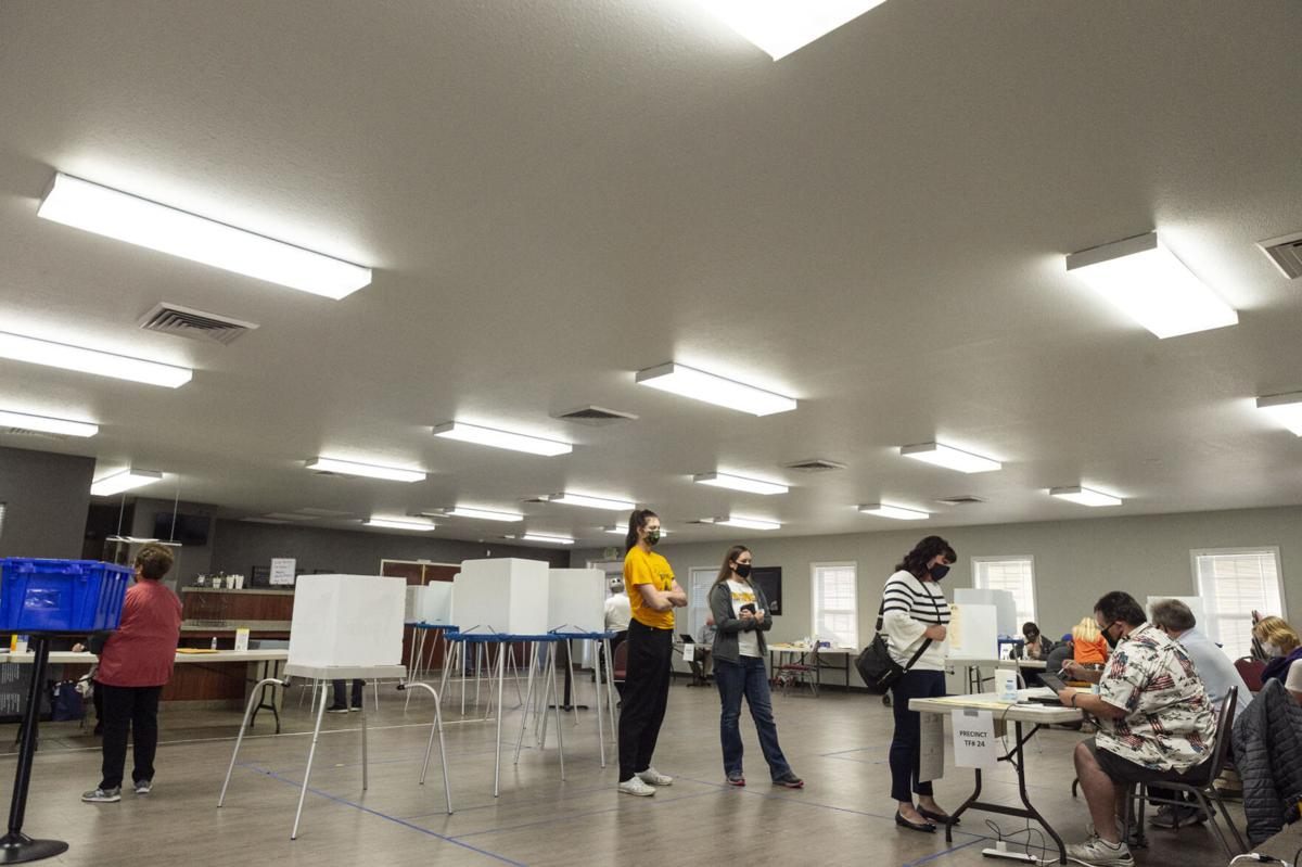 The public votes on election day in Twin Falls