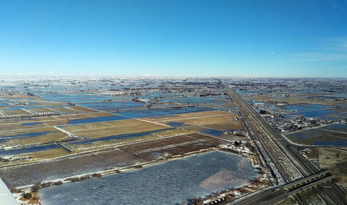 Cassia County flooding from above