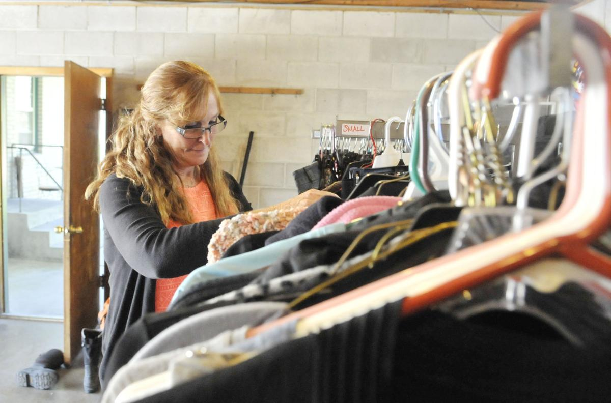 Women's clothing closet