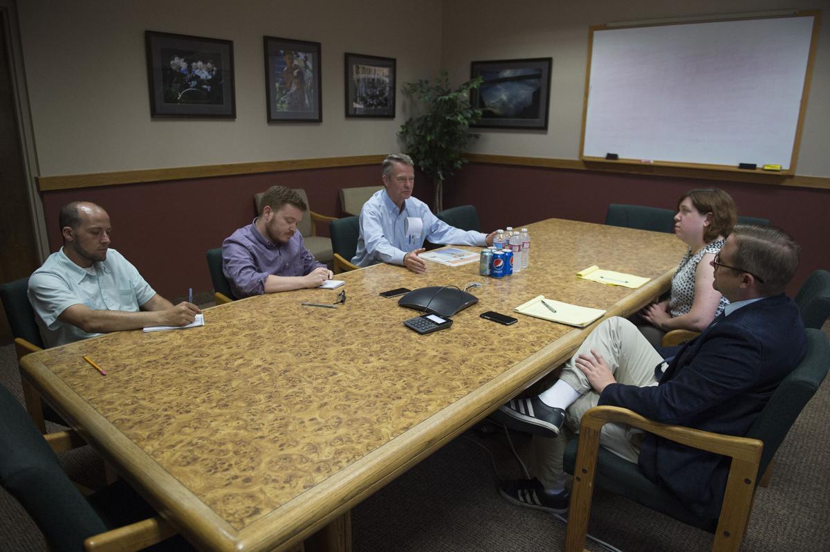 Lt. Governor Brad Little talks to Times-News staffers
