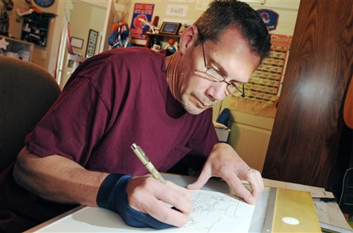 Cartoonist Todd Clark