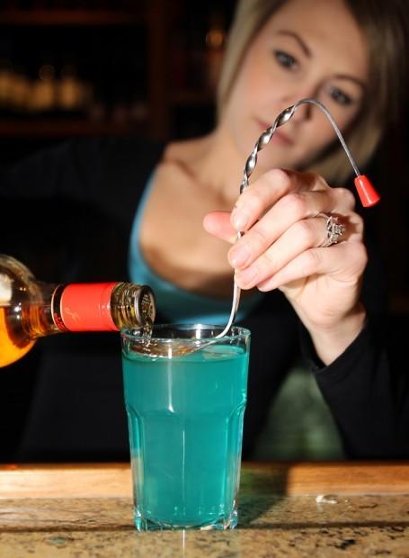 Flair behind the bar