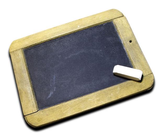 Chalkboard teacher classroom school