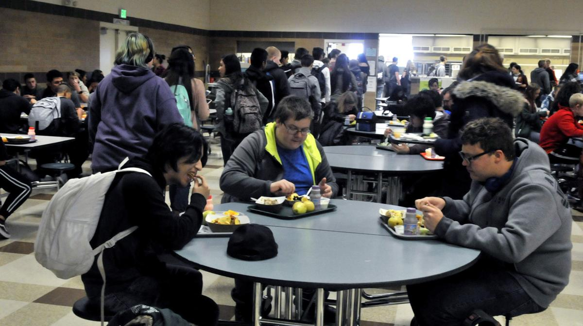 Burley High School cafeteria