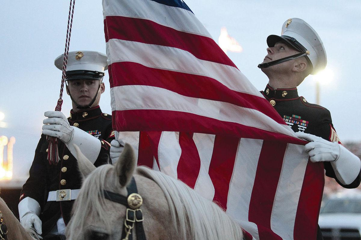 Magic Valley Stampede Marine Corps Mounted Color Guard