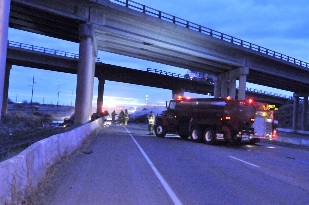 ISP: Semi driver died after crashing off I-84 overpass onto