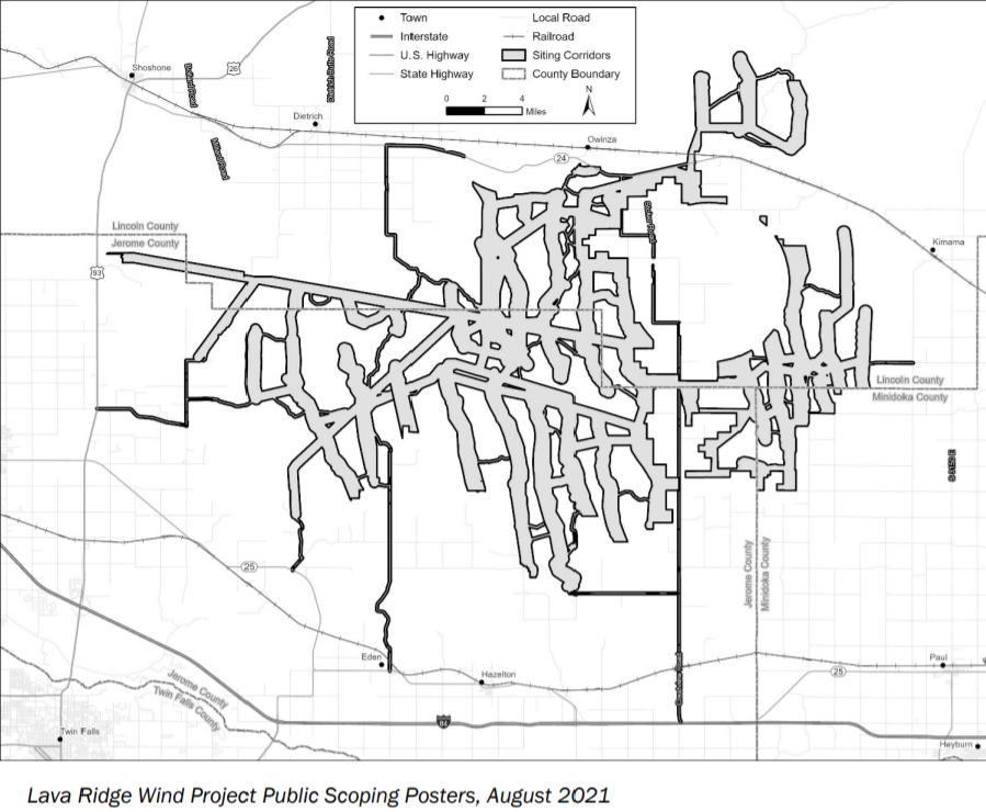 Lava Ridge Wind Project Map