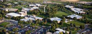 Aerial campus shot