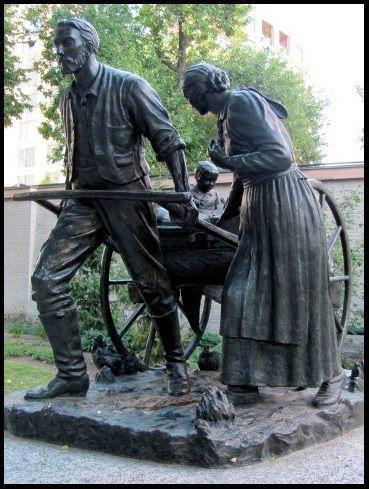 Mormon Handcart by Torleif S. Knaphus
