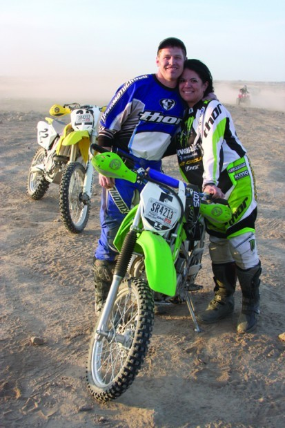 dirt bike couple outdoors and recreation