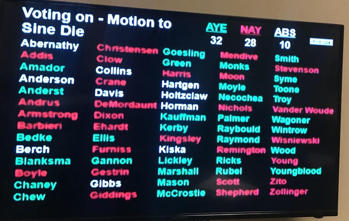 House votes to end session