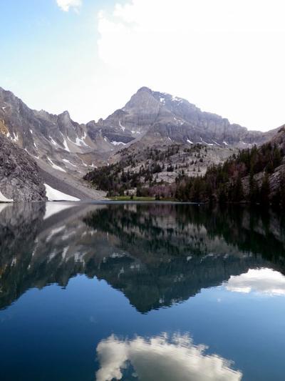 Idaho alpine lake fishing