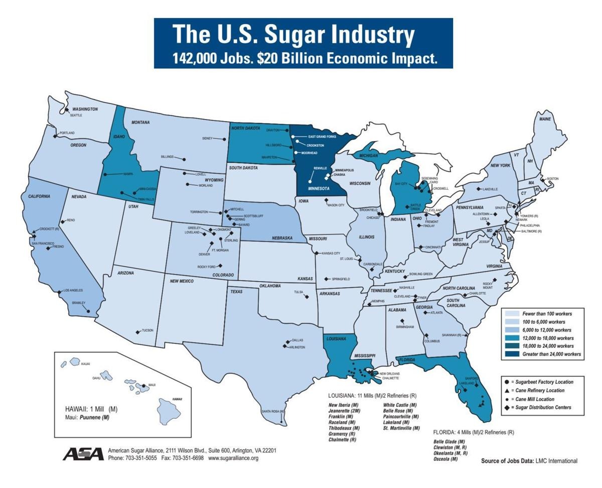 USDA Manages Domestic Sugar Production In Unstable World Market - Idaho location on us map